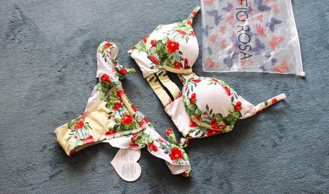 Biquíni Bikini Fio Rosa Novo c/ proteção higiénica (tipo Cantê)