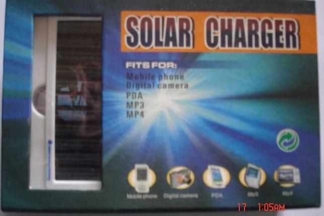 Carregador Solar Charger 1350mAh com acessórios
