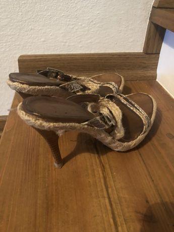 Damskie buty szpilki sandałki na obcasie rozmiar sandały 37.5 38