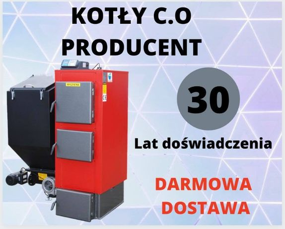 KOTŁY do 120 m2 Piec 19 kW Kociol na EKOGROSZEK z PODAJNIKIEM 16 17 18