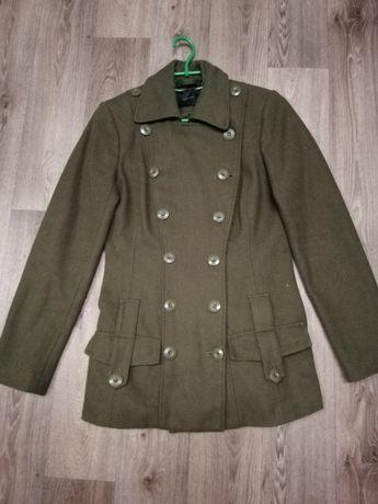 Пальто темно - зеленое