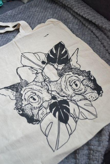 torba eko na zakupy z kotami