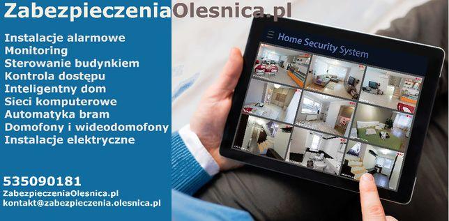 Instalacje alarmowe Oleśnica, Wrocław - alarm domu, monitoring domu
