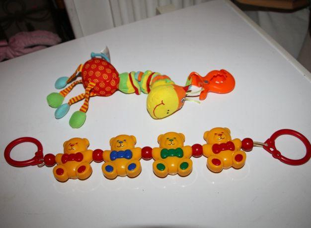 Погремушка прищепка на коляску жираф Tiny love растяжка на кроватку