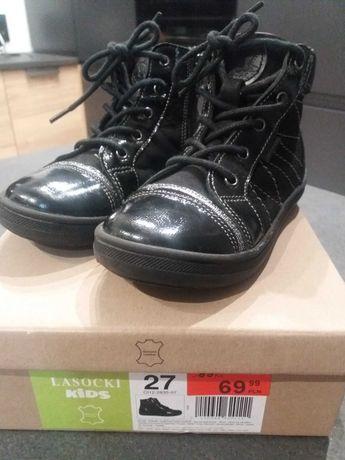 Sprzedam przejściowe buty dziewczęce, rozmiar 27 firmy Lasocki