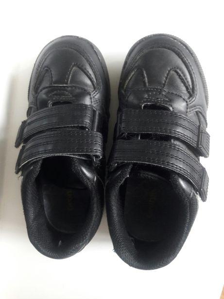 Кожаные кроссовки, туфли на липучках, 28 размер (10), 18 см