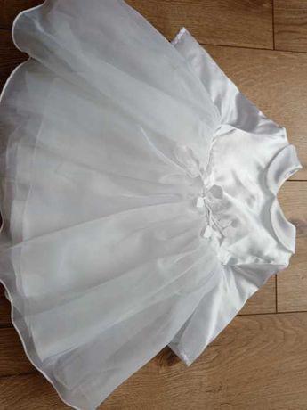 Komplet do chrztu 62 dziewczynka kurtka sukienka body