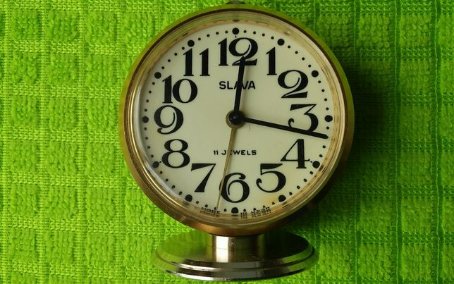 Настольные часы будильник Слава (SLAVA).