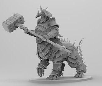 Figurka Kholek Suneater Shaggoth Warhammer druk 3D inne modele żywica