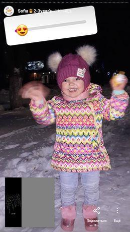 Комбинезон для девочки Зимняя детская куртка