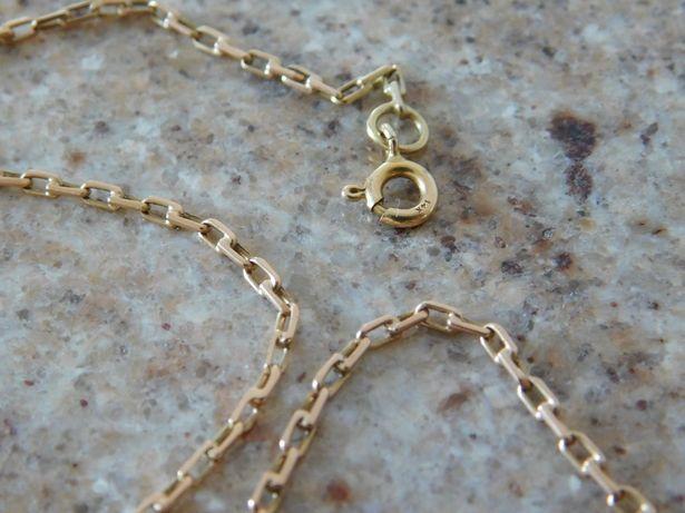 Ankier złoty łańcuszek 585 złoto 14K łańcuch + KRZYŻYK