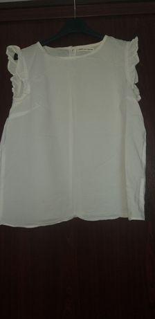 Bluzka biała bez rękawów