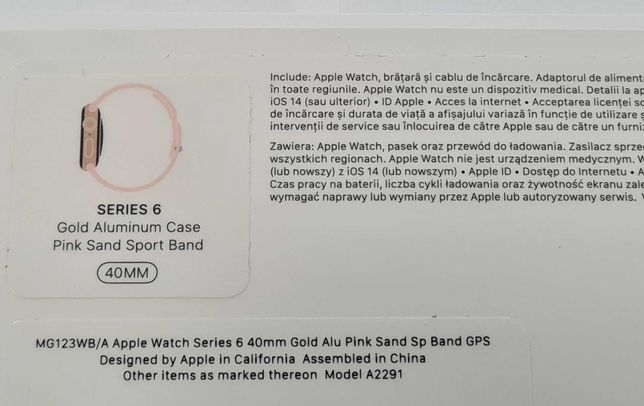 Apple Watch 6 40mm stan bdb komplet GW12/01/2022