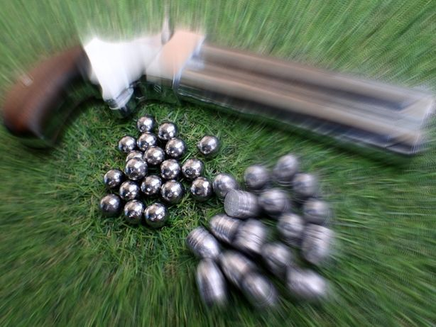 Kule kulki ołowiane .440 miękkie, obtaczane, czarnoprochowy c. 45