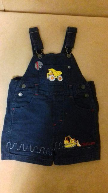 Комбинезон джинсовый лето 92-98 на 2-3 годика