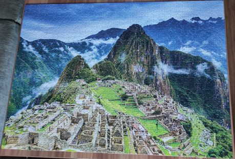 Puzzle 1000 elementów Clementoni kompletne stan idealny Machu Picchu