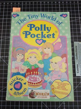 Caderneta de cromos the tiny world of Polly Pocket 1992 com 283 cromos