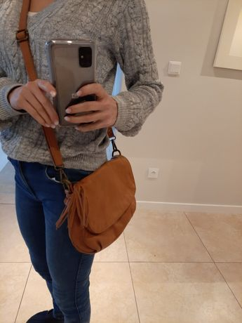 Skórzana torebka na ramię, listonoszka