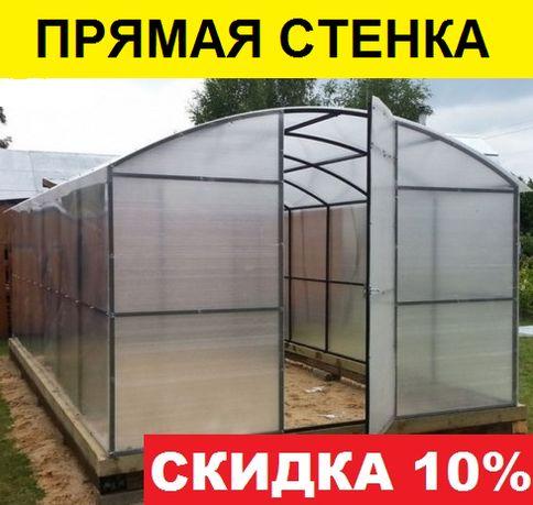 Теплица Славяночка V378-T Чернигов поликарбонат 4 мм