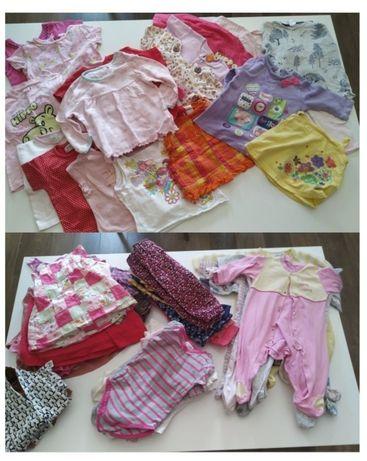 Mega paka ubrań zestaw dla dziewczynki 62 szt. (rozm. 74)