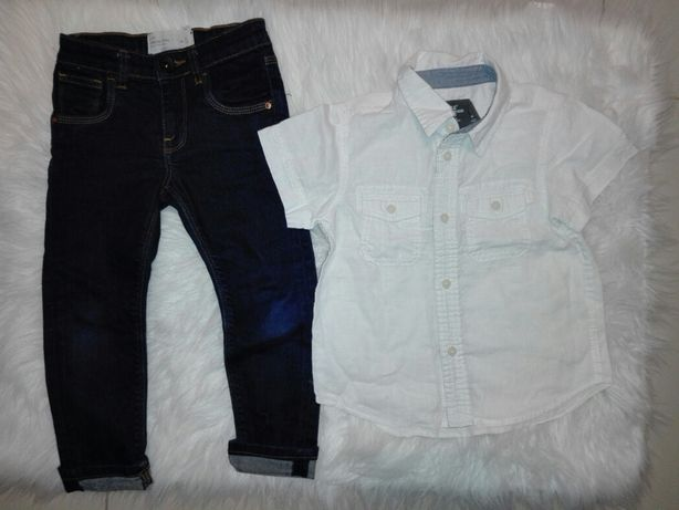 Zestaw dżinsy koszula 4 lata 104