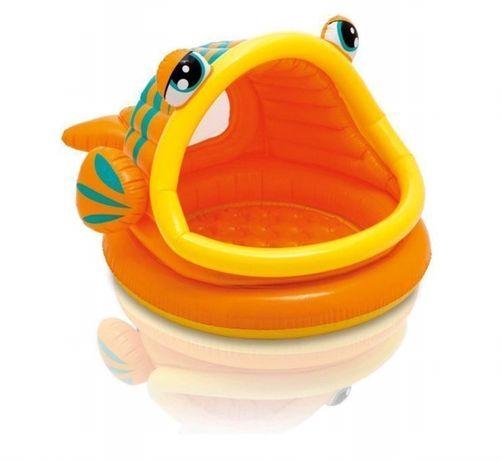 Детский Надувной Бассейн Intex 57109 «Ленивая Рыбка» С Навесом, 124 Х