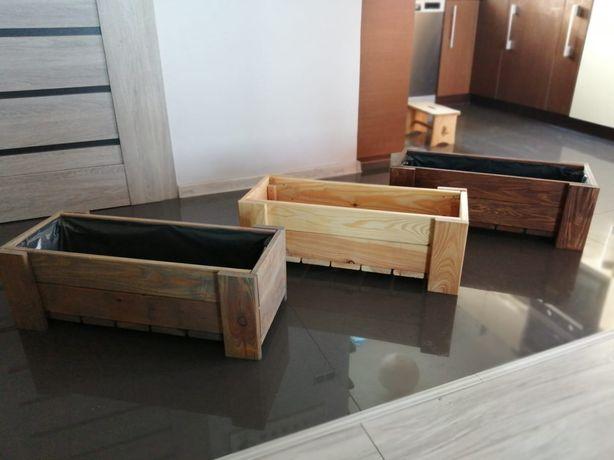 Donica, doniczka drewniana na taras, balkon, skrzynka itp