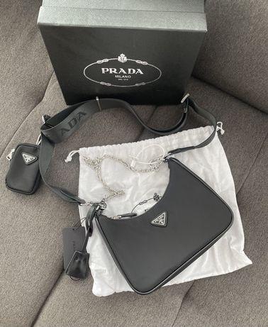 Сумка prada re-edition / сумка из нейлона prada