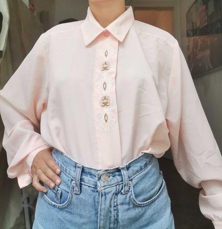 Camisa vintage rosa bebé