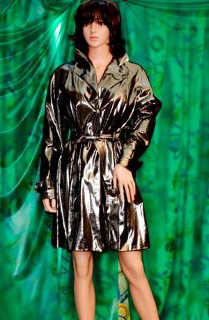 modny płaszcz srebro