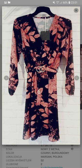 Nowa sukienka czarno-bordowa Kielce - image 1