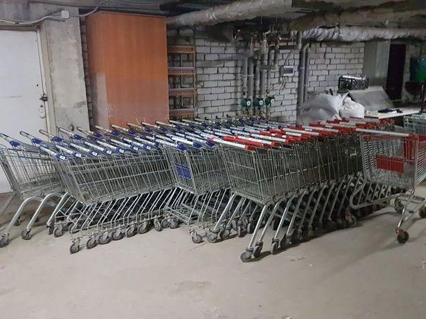 Тележки покупательские, грузовые, торговые для склада 80,100,110, 130л