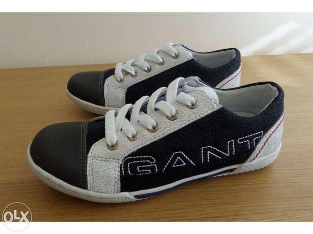 Ténis / sapatilhas (novos) GANT, ganga e pele (tamanho 34)