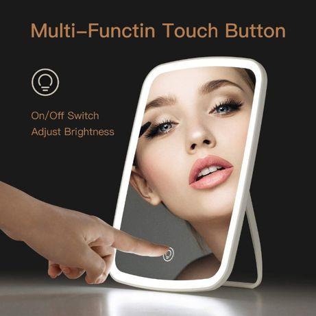 Косметическое зеркало Jordan&Judy для макияжа с LED подсветкой Белый