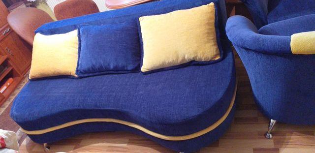 Komplet wypoczynkowy sofa / kanapa rozkładana i 2 fotele