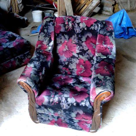 Fotel i wersalka