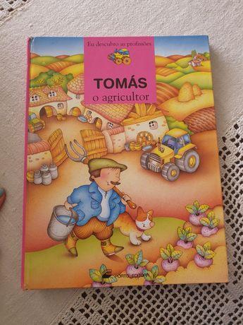 """Livro """"Tomás, o agricultor"""" da Porto editora"""