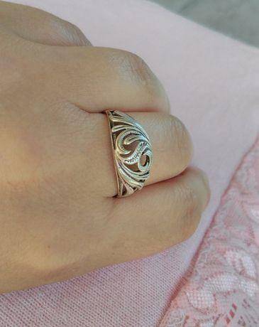 Кольцо красивое винтажное (СССР) 925* проба колечко ажурное