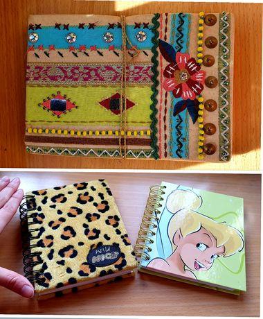 Cadernos pequenos
