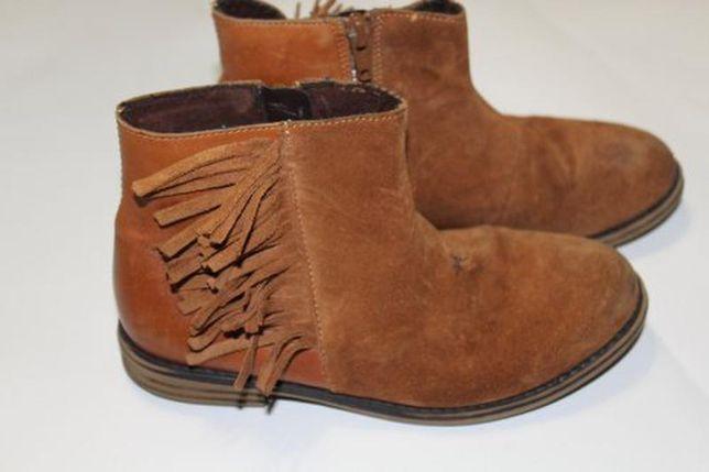 Фірмові черевички next для дівчинки, шкіра+замш, устілка 21 см