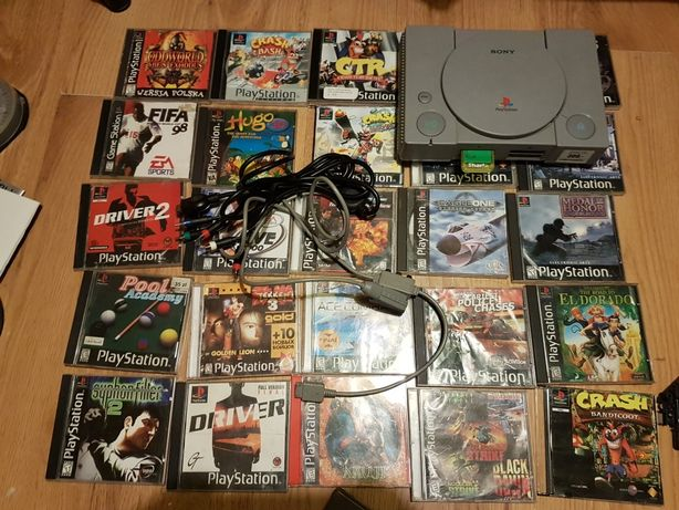 PlayStation 1 psx ps one 25 gier kable crash bandioot  tekken
