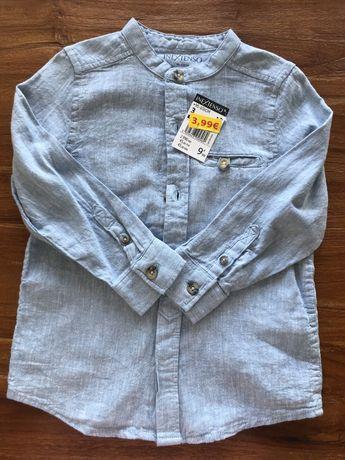 Camisa azul linho