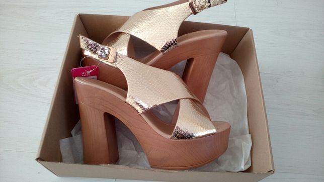 złote sandały - śliczne