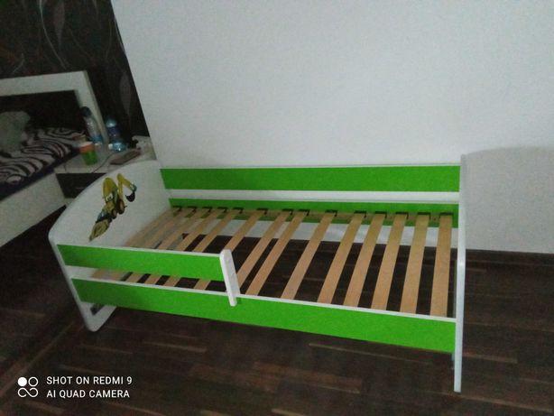 Łóżko dziecięce 160x80 z szufladą koparka z materacem