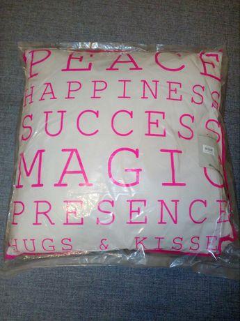 Poduszka dekoracyjna Bloomingville szary różowy na prezent