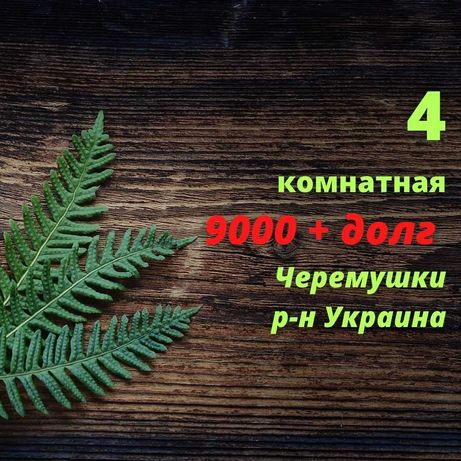 4 комнатная на новых Черемушках., р-н Украина