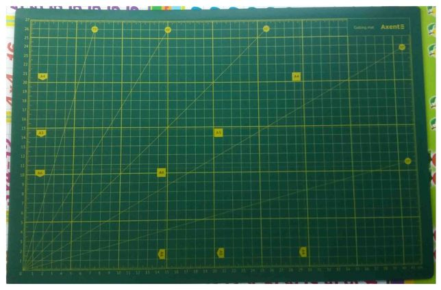 Розкрійний макетний килимок розкрійний мат