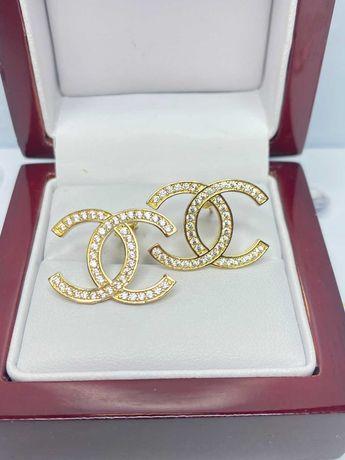 wyjątkowe złote kolczyki CC p585 14k3,55g