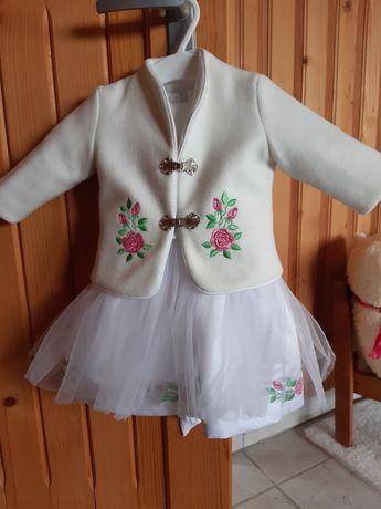 Piękna góralska sukienka na chrzest 62-68