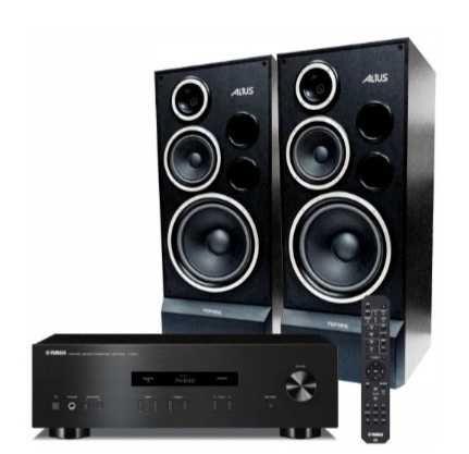 Wzmacniacz stereo amplituner DOBÓR AUDIO kolumny
